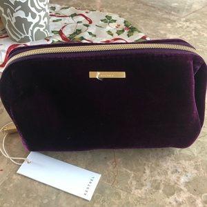 Kestrel bag velvet purple pencil pouch NWT